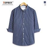 [탑보이] TOPBOY - 빅 스트라이프 차이나 7부셔츠 (DL501)