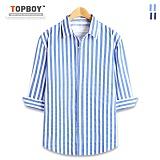 [탑보이] TOPBOY - 빅 스트라이프 7부셔츠 (DL498)