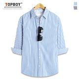 탑보이 - 라이트 스트라이프 7부셔츠 (DL497)