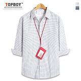 [탑보이] TOPBOY - 스퀘어 판 체크 7부셔츠 (DL496)