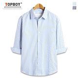 탑보이 - 하프 스트라이프 7부셔츠 (DL495)