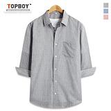 [탑보이] TOPBOY - 핀 스트라이프 7부셔츠 (DL494)