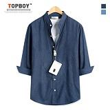 탑보이 - 데님 차이나넥 7부셔츠 (ZT121)