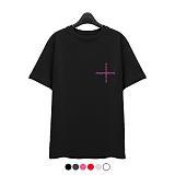 [superlative] 슈퍼레이티브 - [7SMH27] CROSS 반팔 티셔츠 - 반팔 티셔츠 - 6컬러