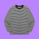 [superlative] 슈퍼레이티브 - [S] 스트라이프 롱슬리브리스 - 긴팔 티셔츠 - WHITE