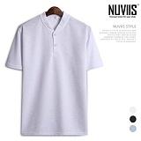[뉴비스] NUVIIS - 트윌 슬라브 롤업 헨리넥 반팔티셔츠 (RT201TS)