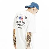 [제네럴웍스] GENERALWORKS 그래픽 전사디자인 반팔티셔츠 GWS313 - WHITE