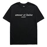 [뉴해빗] NUHABIT - [7NST-32]뉴해빗 - amour et haine -반팔티 - 6COLOR