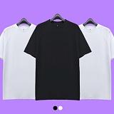 [superlative] 슈퍼레이티브 - [1+1+1][S] 무지 나그랑 롱 반팔 티셔츠 - 반팔 티셔츠 - 2컬러