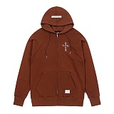 STIGMA - CRUZ MEDIUM SWEAT ZIPUP HOODIE BROWN 후드집업