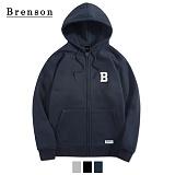 브렌슨 - BR302 B 자수 후드집업 3컬러