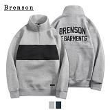 브렌슨 - BR401 배색 아노락 풀오버 2컬러 하프집업