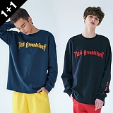 [4월28일예약배송][어커버]ACOVER - [1+1] TWIN EMBO LONG SLEEVE T-SHIRTS 트윈 엠보 롱 슬리브 티셔츠