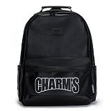 [참스]CHARMS - Basic Cordura Backpack BLACK 코듀라 레더 백팩 데이백팩