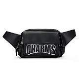 [예약순차발송 5/29][참스]CHARMS - Basic Leather Hipsack BLACK 레더 웨이스트백 힙색