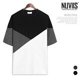 [뉴비스] NUVIIS - 와이 절개 반팔티셔츠 (RT210TS)