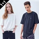 [어커버]ACOVER - [1+1] LOGO POINT T-SHIRT 로고 포인트 티셔츠