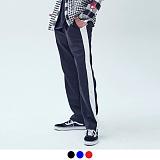 [어커버]ACOVER - JERSEY LINE TRACK PANTS 져지 사이드 라인 트랙 팬츠