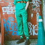 [참스]CHARMS - BOLD LOGO SWEATPANTS GREEN 조거 사이드 라인 트레이닝팬츠