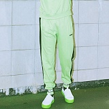 [참스]CHARMS - BOLD LOGO SWEATPANTS YELLOW GREEN 조거 라인 트레이닝팬츠