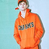 [참스]CHARMS - BOLD LOGO HOODY ORANGE 후디 후드