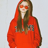 [참스]CHARMS - BOLD LOGO HOODY RED 후디 후드