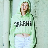 [참스]CHARMS - BOLD LOGO HOODY YELLOW GREEN 후디 후드
