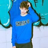 [참스]CHARMS - BOLD LOGO SWEATSHIRTS BLUE 크루넥 스��셔츠 맨투맨