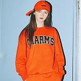 [참스]CHARMS - BOLD LOGO SWEATSHIRTS ORANGE 크루넥 스��셔츠 맨투맨