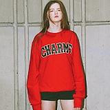 [참스]CHARMS - BOLD LOGO SWEATSHIRTS RED 크루넥 스��셔츠 맨투맨