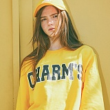 [참스]CHARMS - BOLD LOGO SWEATSHIRTS YELLOW 크루넥 스��셔츠 맨투맨
