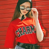 [참스]CHARMS - BOLD LOGO T-SHIRTS RED 반팔티