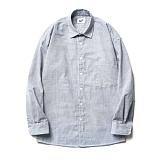파르티멘토 - Hair Line Stripe Shirts Sky 스트라이프셔츠