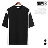[뉴비스] NUVIIS - 솔리드 라인 오버핏 반팔티셔츠 (RT215TS)