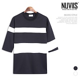 [뉴비스] NUVIIS - 분또 투블럭 7부 티셔츠 (RM061TS)