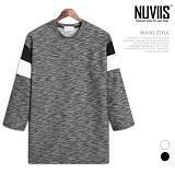 뉴비스 - 디디 소매배색 7부 티셔츠 (RM066TS)