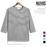 [뉴비스] NUVIIS - 레이어드 단가라 7부 티셔츠 (RM069TS)