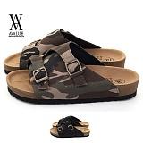[에이벨류] 남성 밀러터리 타우페 슬리퍼(카키.블랙)696-블로그 남자 여름 신발 버켄