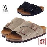 [에이벨류] 남여공용 스웨이트 타우페2 슬리퍼(블랙.베이지)709-타우페 커플 남자 여자 여름 신발 버켄