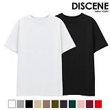 [1+1][DISCENE]디씬 무지 반팔 티셔츠 10컬러 -묶음 상품-