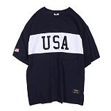 [앱놀머씽] USA T-Shirt (Navy) 반팔티셔츠