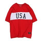 [앱놀머씽] USA T-Shirt (Red) 반팔티셔츠