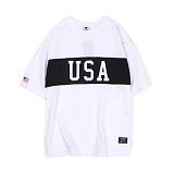[앱놀머씽] USA T-Shirt (White) 반팔티셔츠