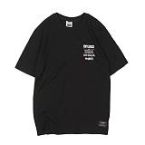 [앱놀머씽] VR 17 T-Shirt (Black) 반팔티셔츠