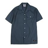 [앱놀머씽] Tender Open Collor Shirts (Navy) 오픈카라셔츠