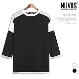 [뉴비스] NUVIIS - 10수 오버숄더 7부 티셔츠 (SM030TS)