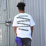 [FLUKE] 플루크 - 17 S/S Arrange tape 반팔 티셔츠 FST017C113WH