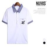 [뉴비스] NUVIIS - 엠 청지 카라 반팔티셔츠 (RT223TS)