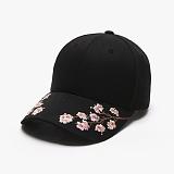 [피스메이커]PIECE MAKER - SAKURA SOUVENIR HARD CAP (BLACK) 사쿠라 자수 볼캡