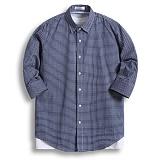 [젠블랙] zenblack - 5미리 판 체크 7부셔츠 ZSH031
